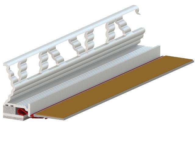 RÖFIX Anputzleiste 3D Membran