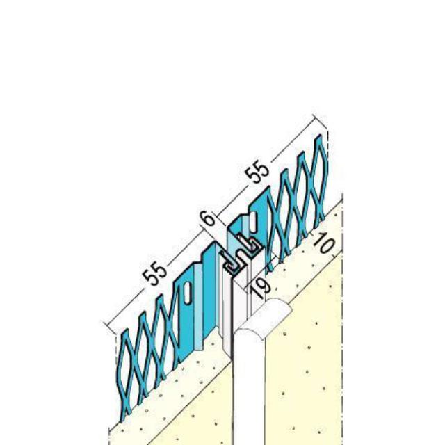 Bewegungsfugenprofil für den Innen- und Außenputz 7501