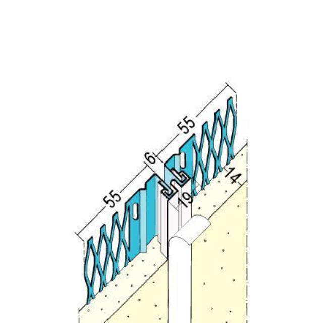 Bewegungsfugenprofil für den Innen- und Außenputz  7503
