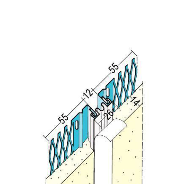 Dehnungsfugenprofil für den Innen- und Außenputz 7523