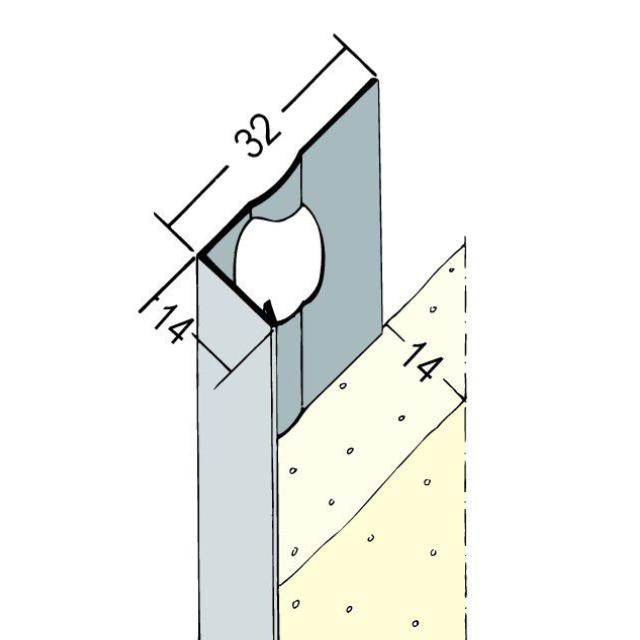 Abschlussprofil für den Innen- und Außenputz 9110