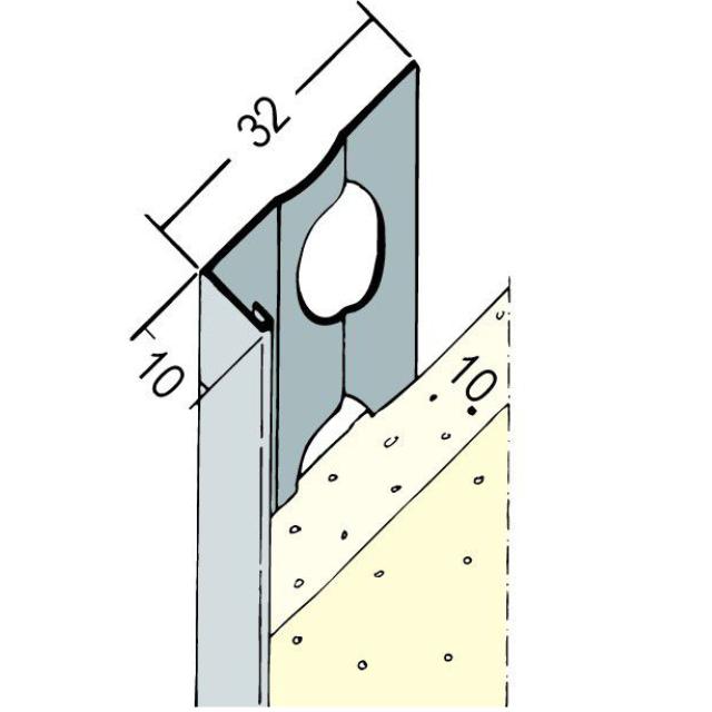 Abschlussprofil für den Innen- und Außenputz 9111