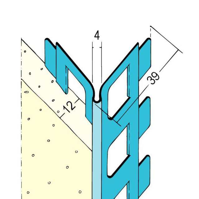 Kantenprofil für den Innen- und Außenputz 1012Z