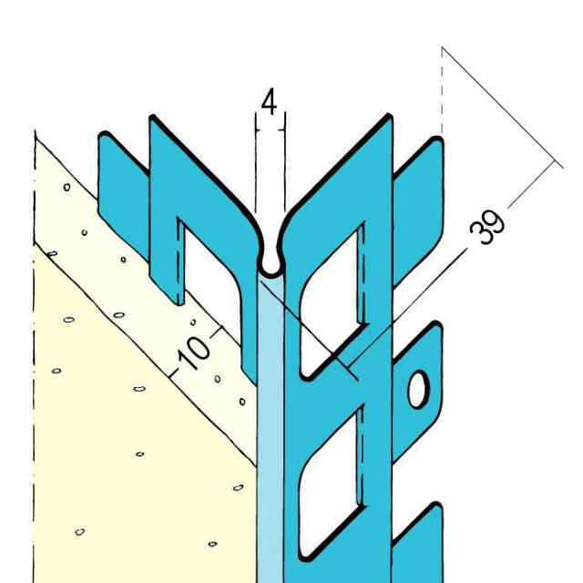 Kantenprofil für den Innenputz 1022