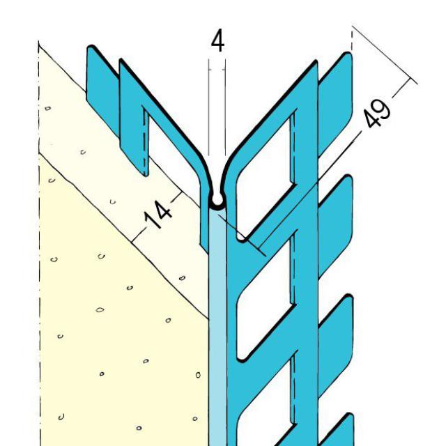 Kantenprofil für den Innen- und Außenputz 1024 Z