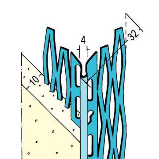 Kantenprofil für den Innen- und Außenputz 1047 Z