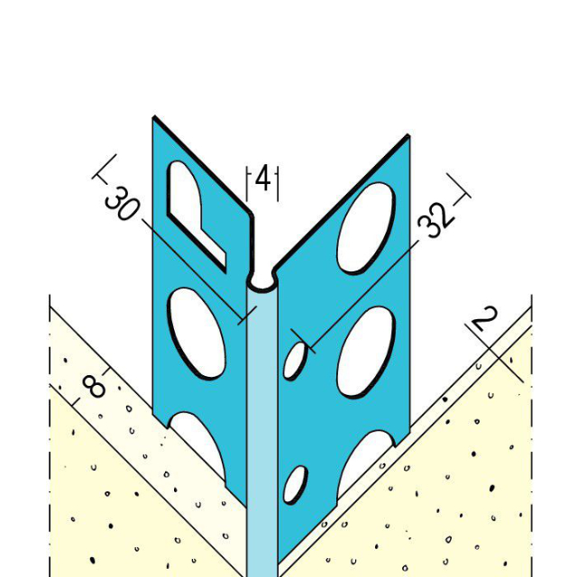 Kantenprofil für den Innenputz 1058