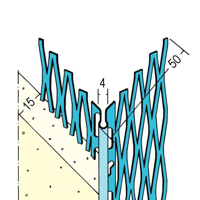 Kantenprofil für den Innen- und Außenputz 1043 Z