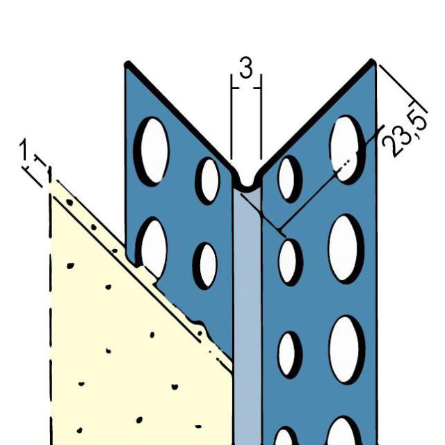Kantenprofil für den Trockenbau 1031