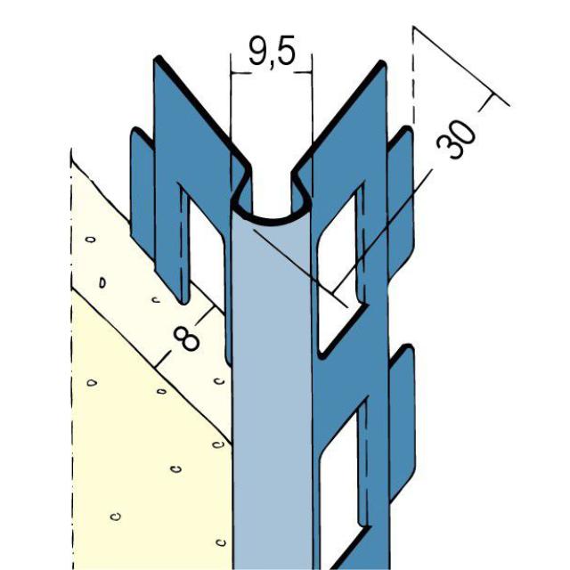 Kantenprofil für den Innen- und Außenputz 2215