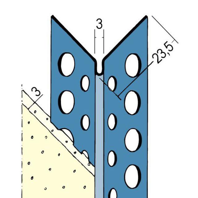 Kantenprofil für den Innen- und Außenputz 2274