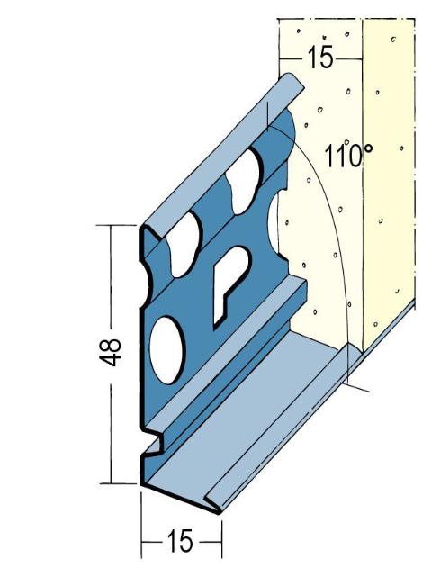 Sockelprofil für den Innen- und Außenputz 2229