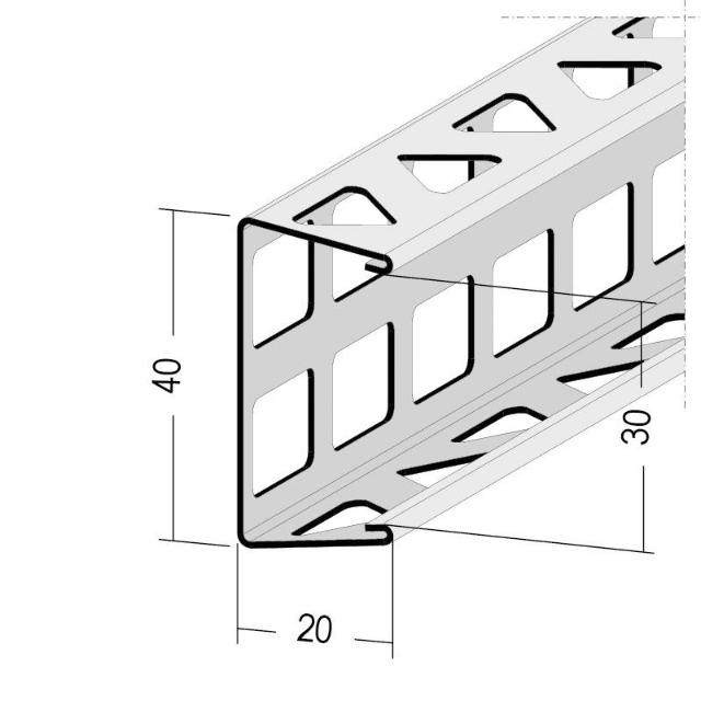 Bossenprofil für den Innen- und Außenputz 9295