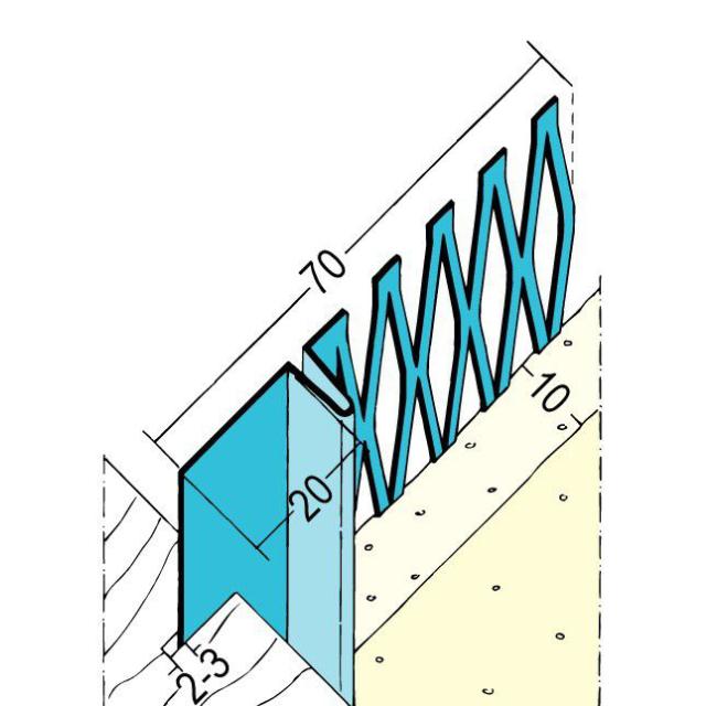 Anschlussprofil mit Schattenfuge für den Innenputz 1306