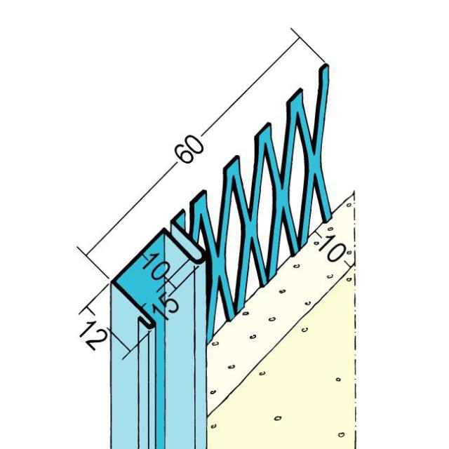 Anschlussprofil mit Schattenfuge für den Innenputz 1312