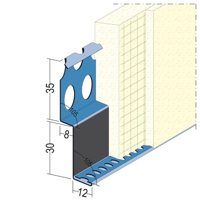 Metallanschlussprofil für den Aussenputz 2765