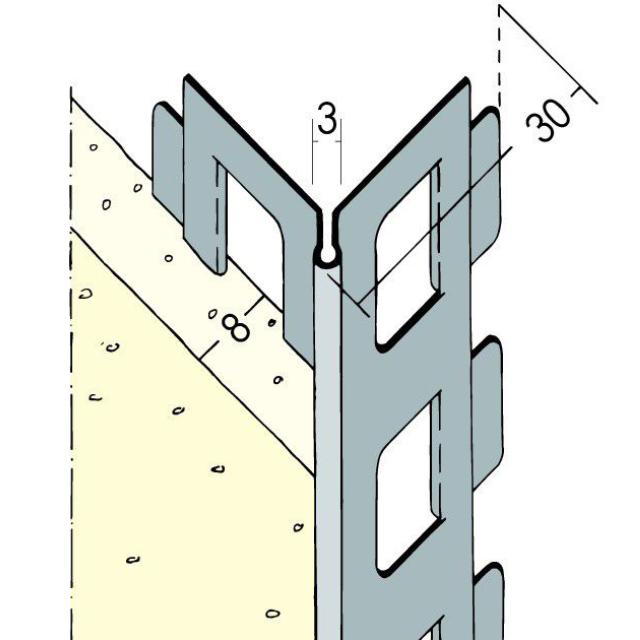 Kantenprofil für den Innen- und Außenputz 9100