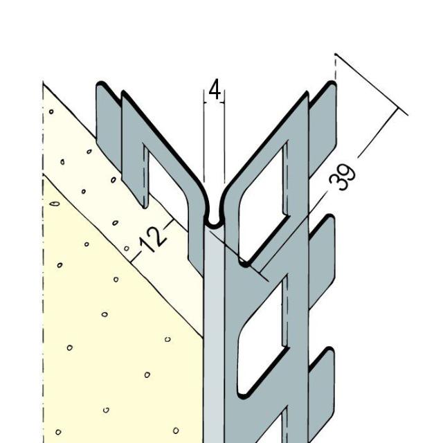 Kantenprofil für den Innen- und Außenputz 9112