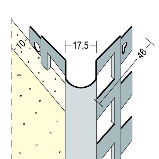 Kantenprofil für den Innen- und Außenputz 9571