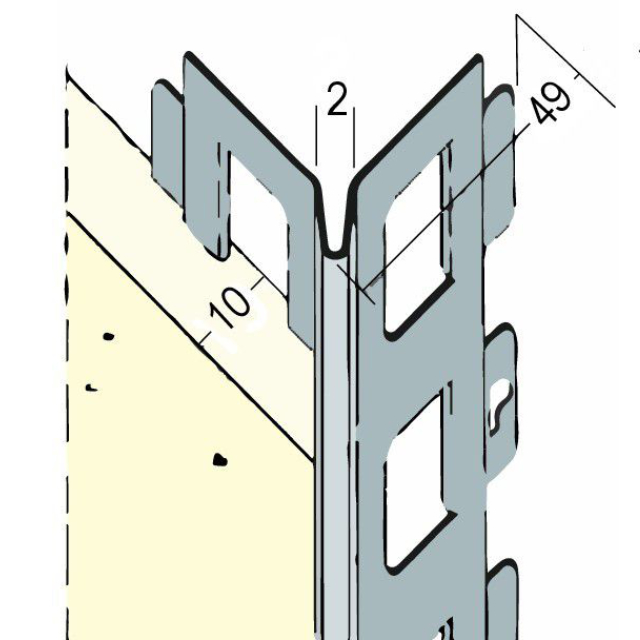 Kantenprofil für den Innen- und Außenputz 91081