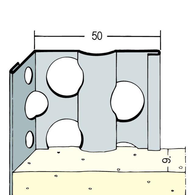 Kantenprofil für den Innen- und Außenputz 91051