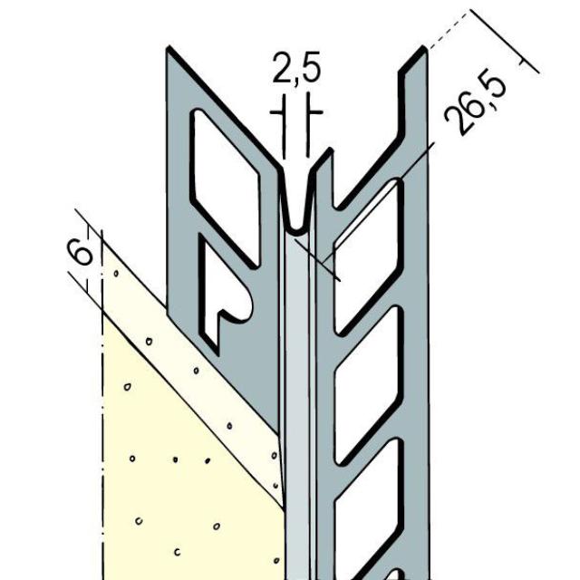 Kantenprofil für den Innen- und Außenputz 9104