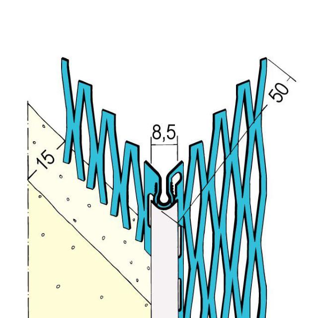 Kantenprofil für den Außenputz 1028