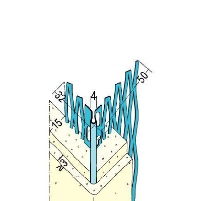 Kantenprofil für den Innen- und Außenputz 1039 Z