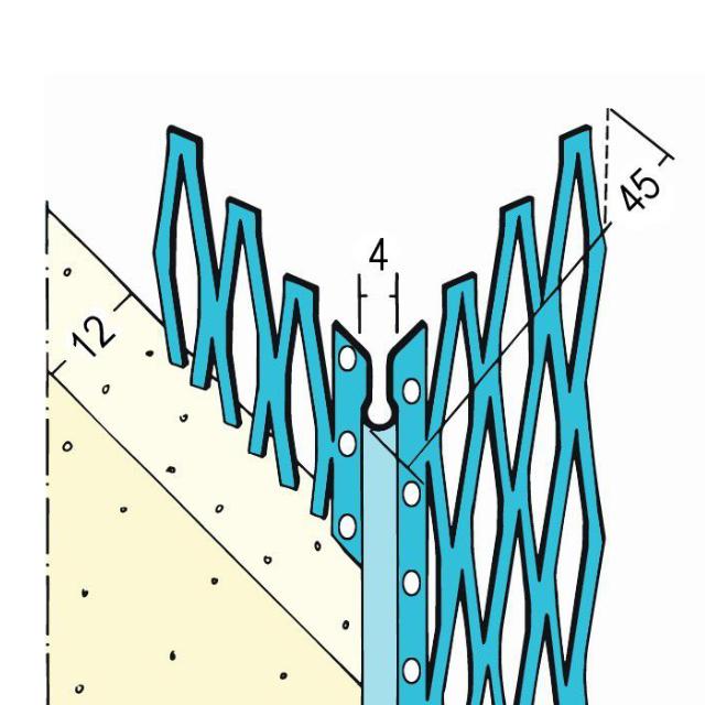 Kantenprofil für den Innen- und Außenputz 1045Z