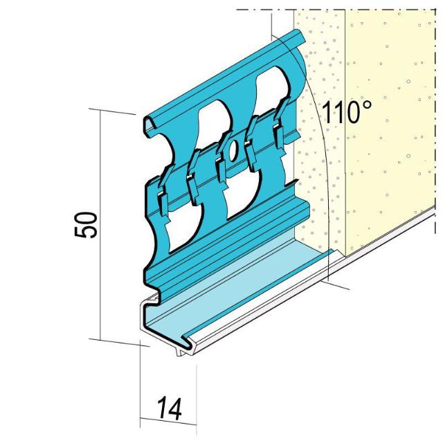 Sockelprofil für den Außenputz 1225
