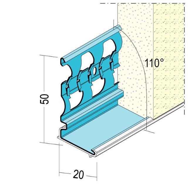 Sockelprofil für den Außenputz 1229