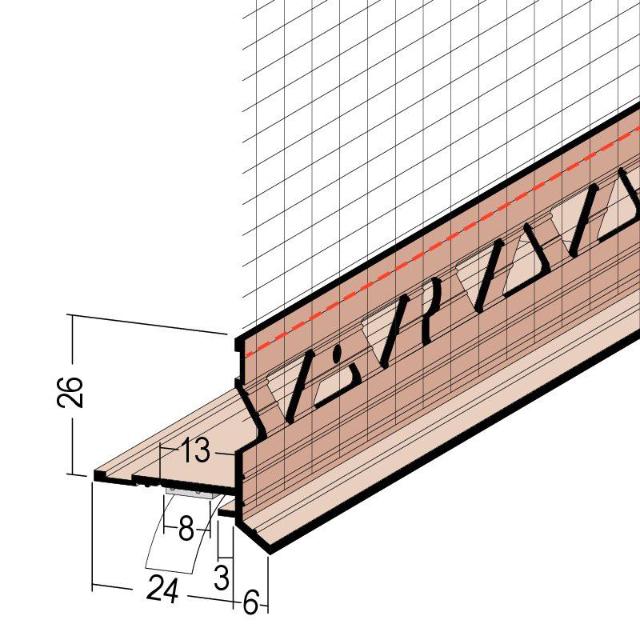 Sockelprofil für WDV-Systeme 37964