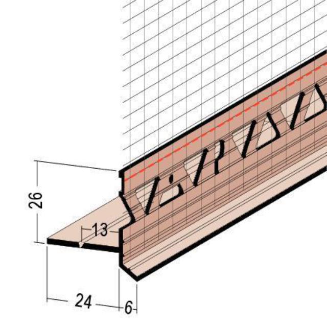 Anschlussprofil an Rollladen/Raffstorekasten mit Gewebe 37429