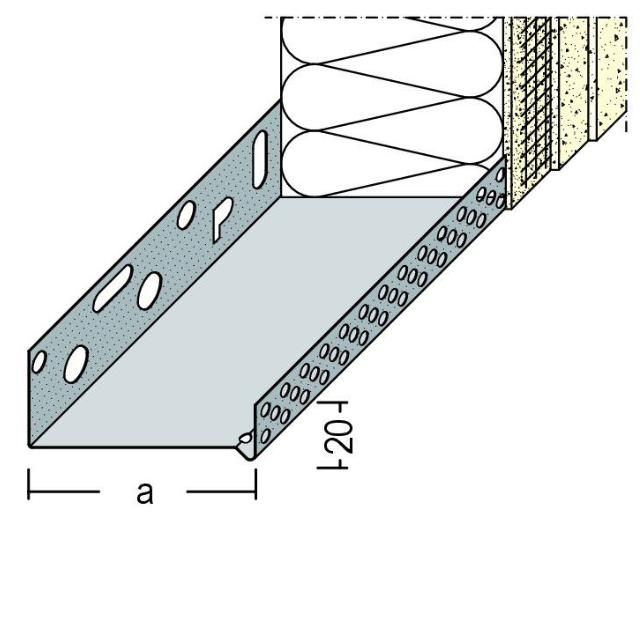 Sockeltrogprofil für WDV-Systeme
