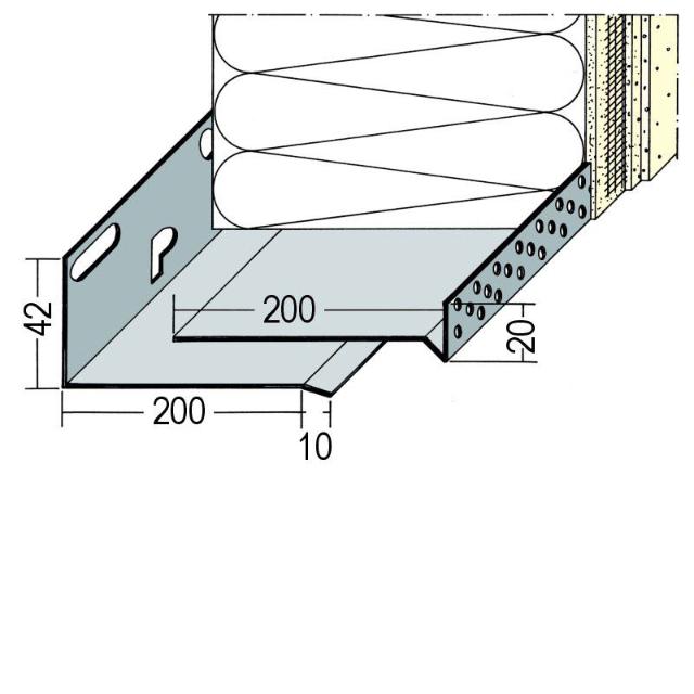 Sockeltrogprofil für WDV-Systeme 9141