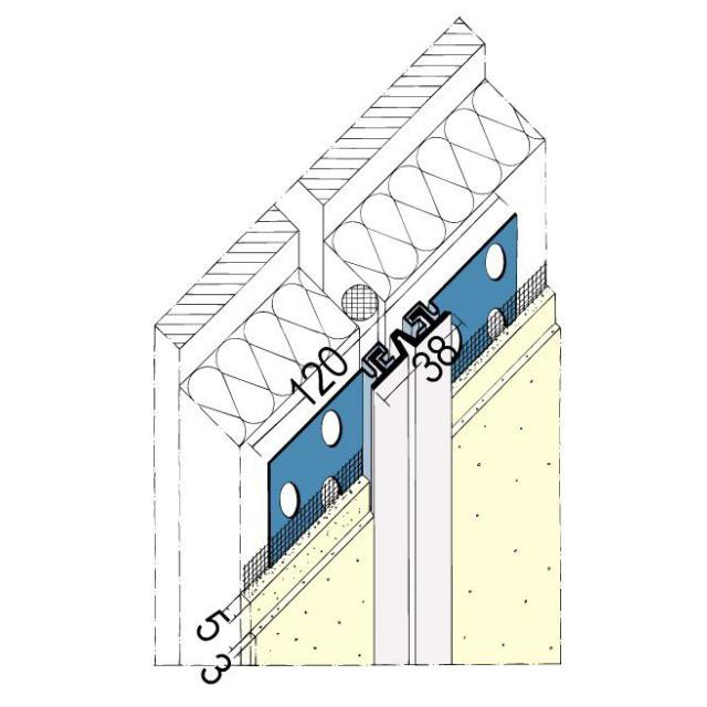 Dehnungsfugenprofil für den Innen- und Außenputz 2320