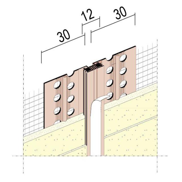 Dehnungsfugenprofil für Wärmedämmung 37532