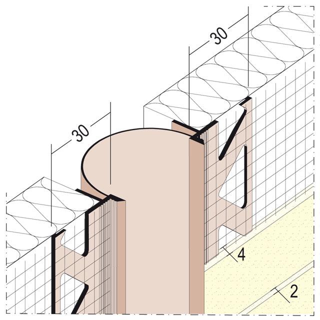 Dehnungsfugenprofil für Wärmedämmung 30351/30352