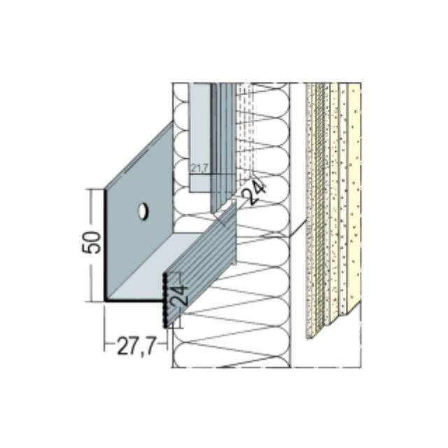 Verbindungsleiste für mechanisch befestigte Wärmedämmung