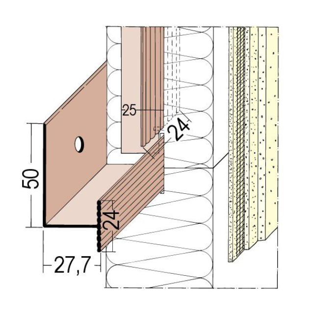 Halteleiste für mechanisch befestigte Wärmedämmung