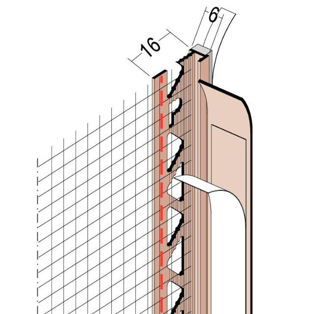 Anputzdichtleiste mit Schattenfuge, Gewebe für WDV-Systeme 37806