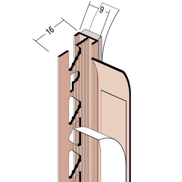 Anputzdichtleiste mit Schattenfuge für Innen- und Außenputz 37609