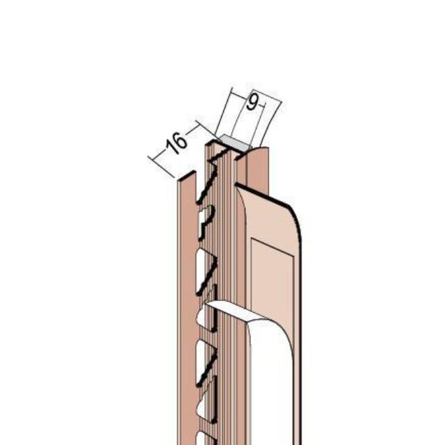 Anputzdichtleiste mit Schutzlippe für Innen- und Außenputz 37709