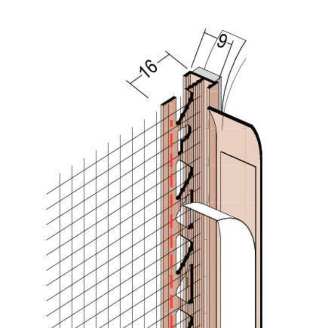 Anputzdichtleiste mit Schattenfuge, Gewebe für WDV-Systeme 37809