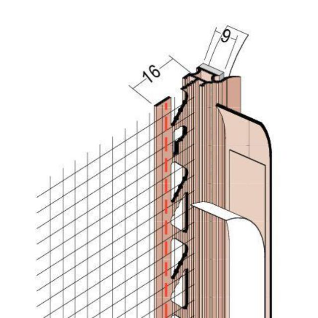 Anputzdichtleiste mit Bewegungskammer, Schutzlippe, Gewebe 38909