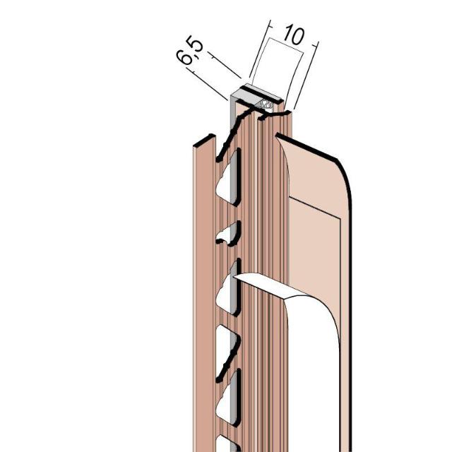 Anputzdichtleiste mit Schattenfuge, Membran 38610