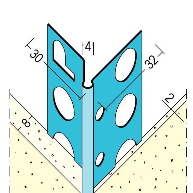 Kantenprofil für den Übergang Trockenbau auf Innenputz 1058