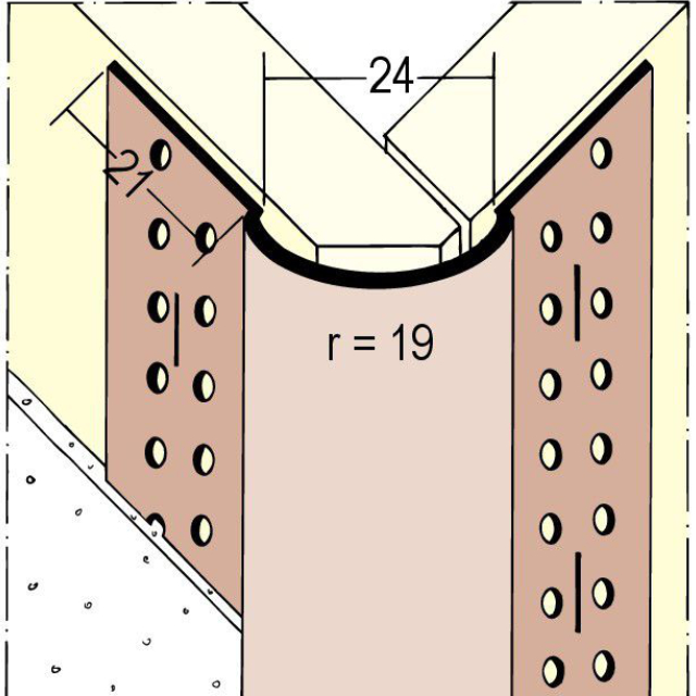 Kantenprofil für den Trockenbau 3776