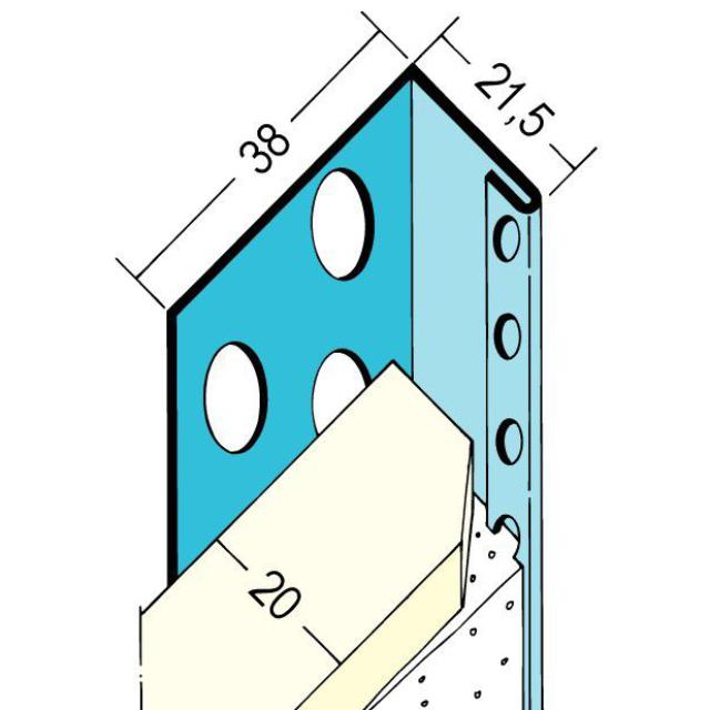 Abschlussprofil für den Trockenbau 1134