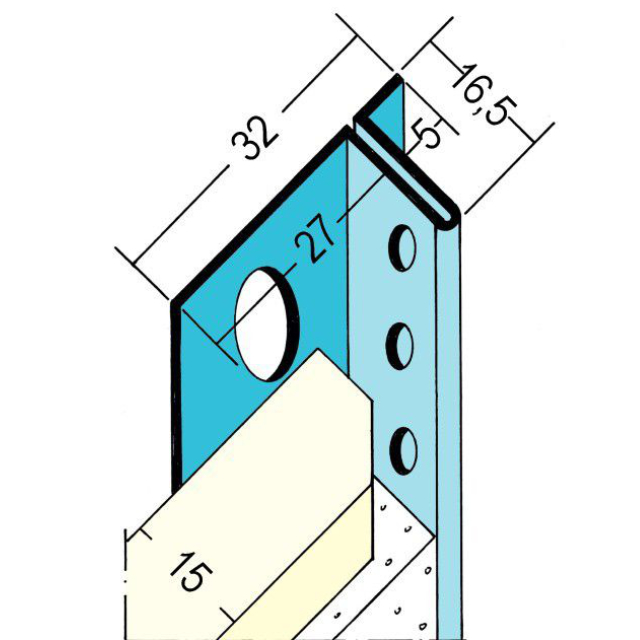 Anschlussprofil mit Schattenfuge für den Trockenbau 1377